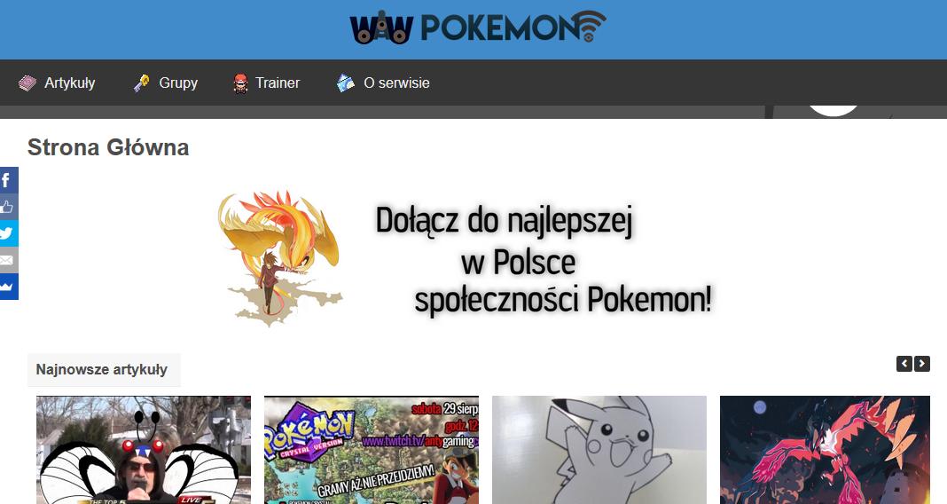 Witajcie w nowym WAW Pokemon!