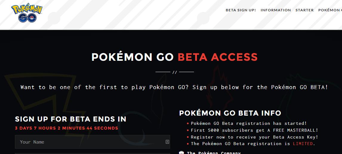 Pokemon GO Beta – Uwaga na fałszywe strony!