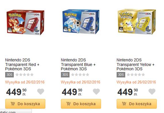 2DSy z Pokemonami można już zamówić w Polskich sklepach!