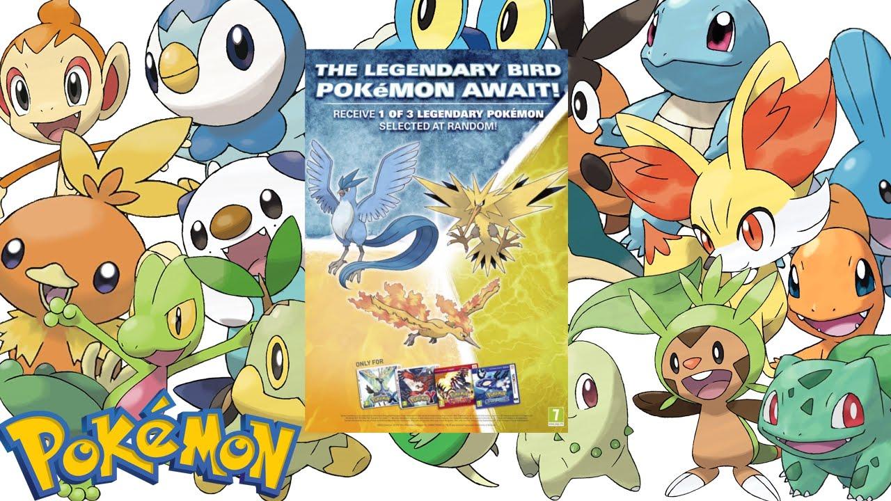 WAW Pokemon rozdaje TYSIĄC kodów na legendarne trio Pokemon!