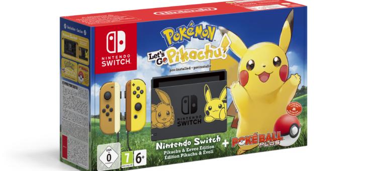 Limitowane zestawy konsoli Nintendo Switch na wydanie nowych gier serii Let's GO!