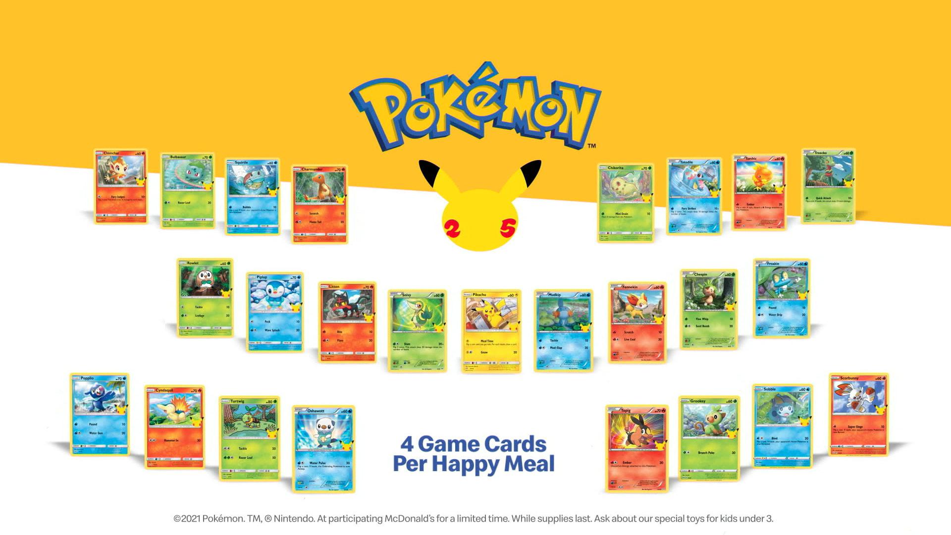 Zaraz w Polsce będą karty Pokemon w zestawach Happy Meal w McDonalds!   WAW Pokemon